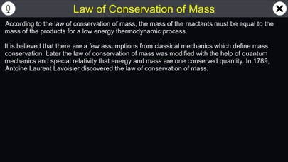 Law of Conservation of Mass screenshot 1