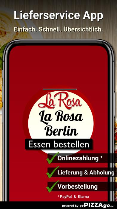 Pizza La Rosa Berlin screenshot 1