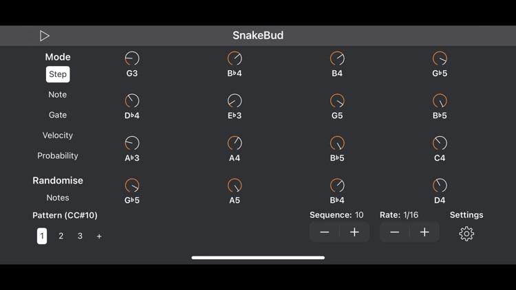 SnakeBud - AUv3 MIDI Sequencer