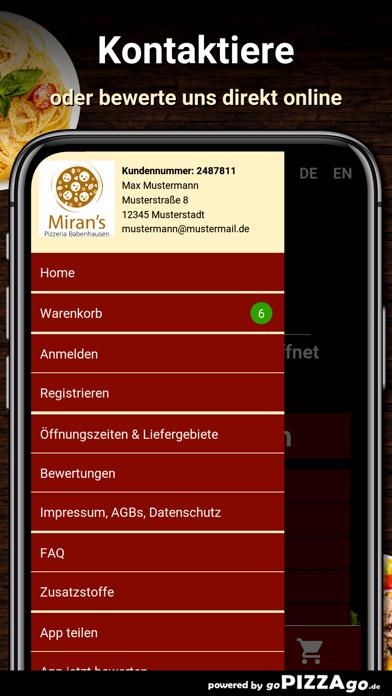 Mirans Pizzeria Babenhausen screenshot 3