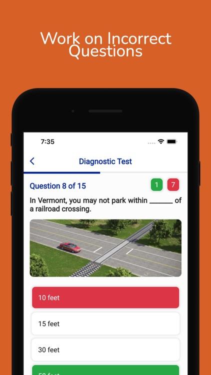Vermont DMV Permit Practice screenshot-5