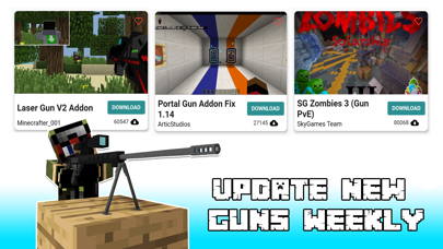 Guns Mod Weapon Addon for MCPE紹介画像1