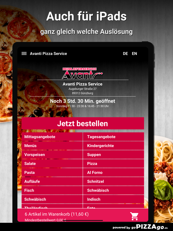 Avanti Pizza Service Günzburg screenshot 8