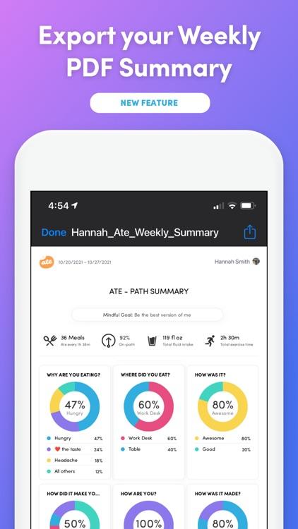 Ate Food Diary + Habit Tracker screenshot-9