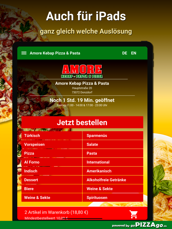 Amore Pizza Donzdorf screenshot 7