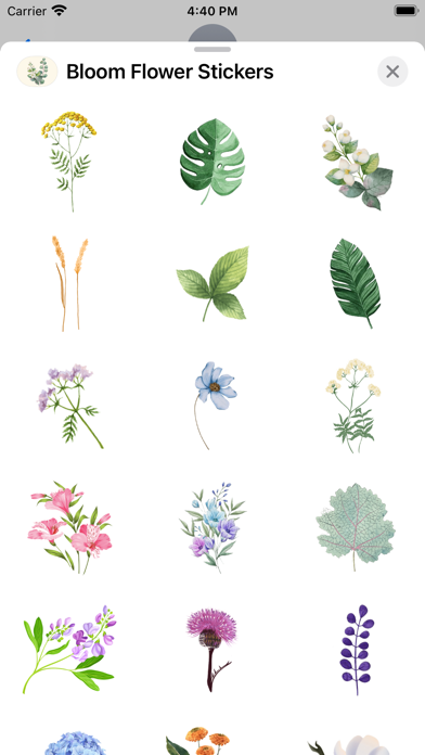 Bloom Flower Stickers screenshot 2