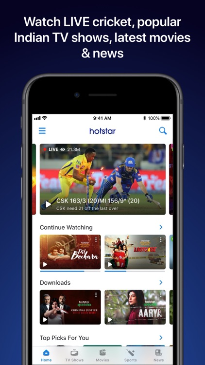 Hotstar- Live Cricket & Movies screenshot-5