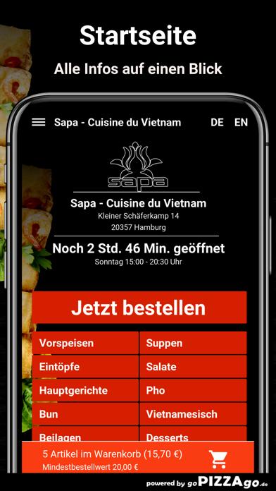 Sapa - Cuisine du Vietnam Hamb screenshot 2