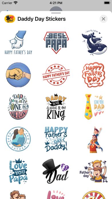 Daddy Day Stickers screenshot 2