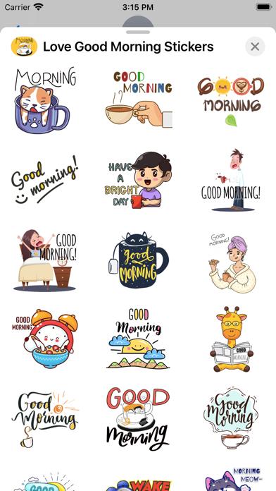 Love Good Morning Stickers screenshot 3
