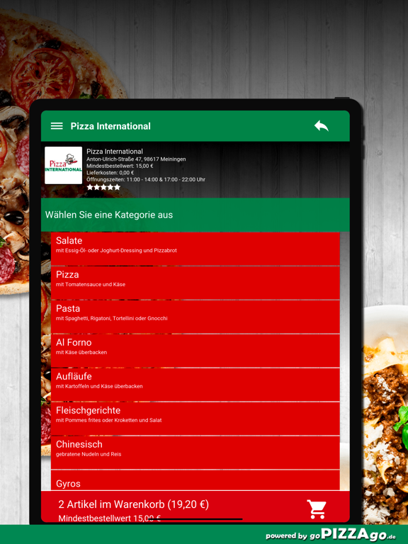 Pizza International Meiningen screenshot 8