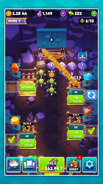 Gold and Goblins: Idle Merger screenshot-5