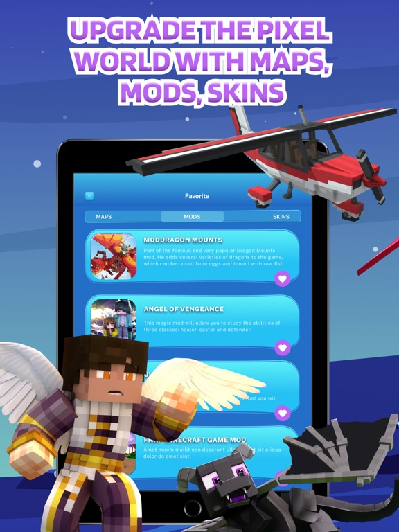 iPad Image of Mods Skins Maps for Minecraft