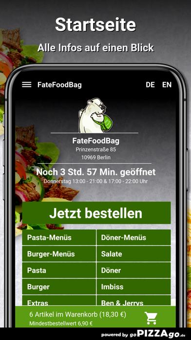 FateFoodBag Berlin screenshot 2