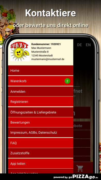 Sunny Pizzaservice Ludwigsburg screenshot 3