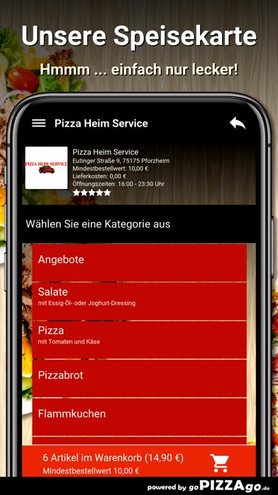Pizza Heim Service Pforzheim screenshot 4
