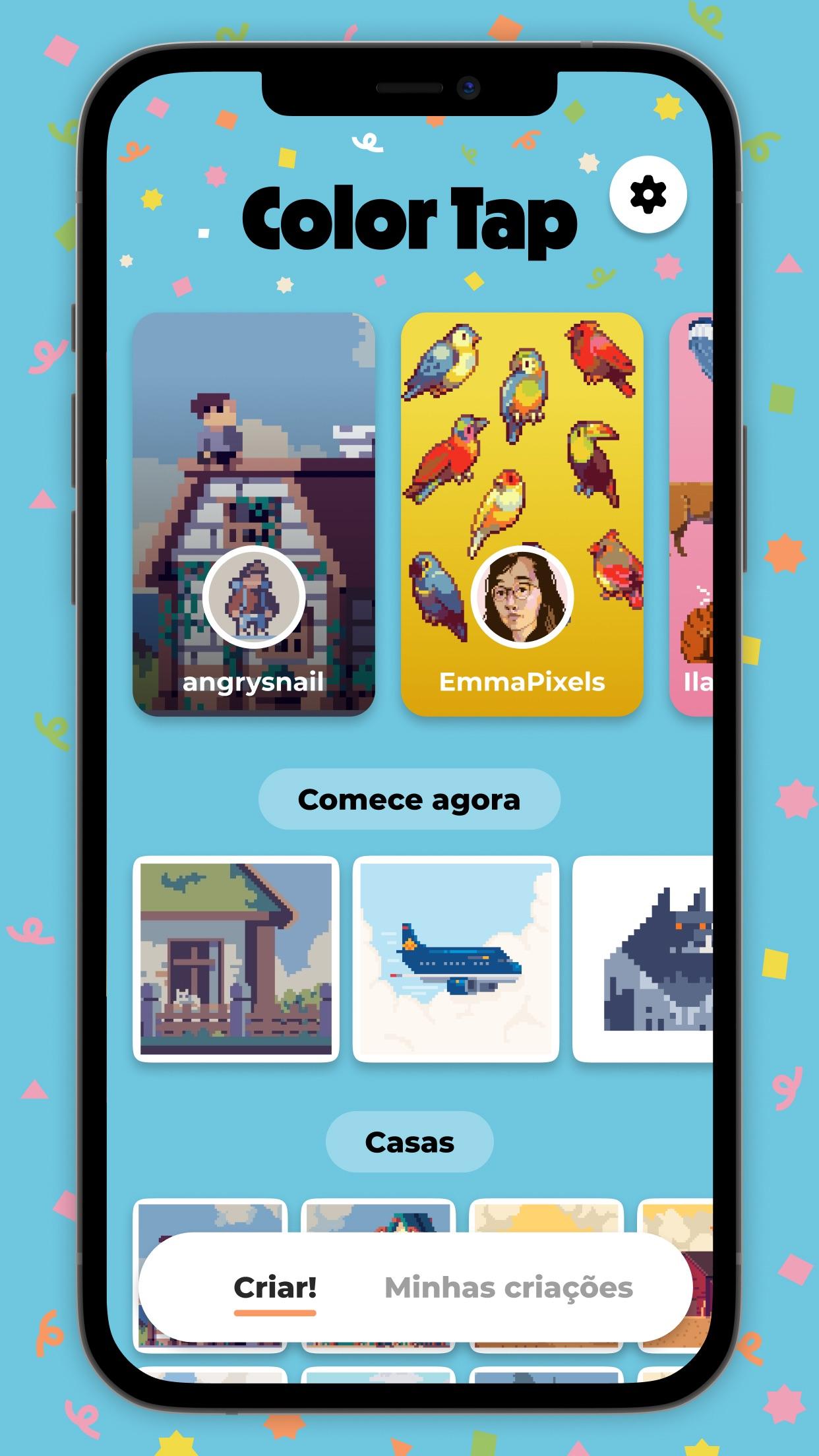 Screenshot do app Color Tap: Colorir por números