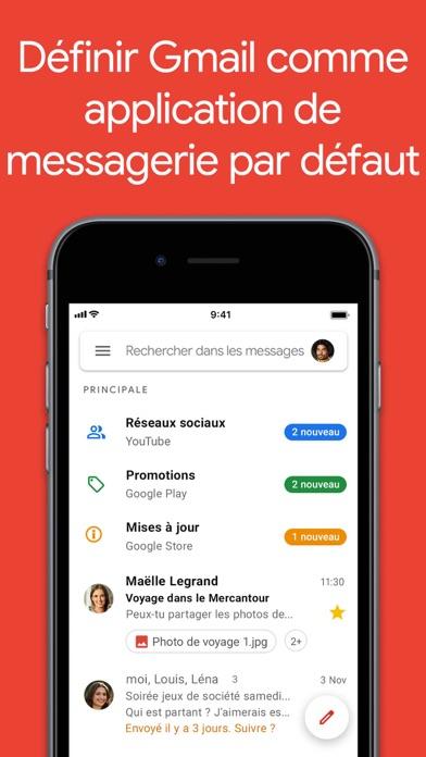 Gmail – la messagerie Google iphone captures décran