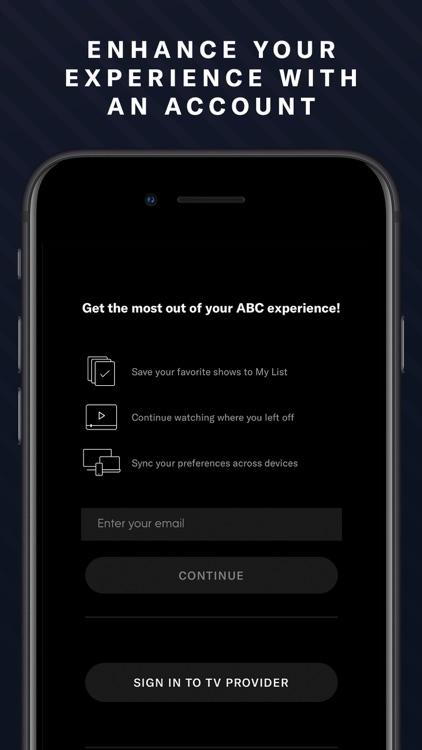 ABC – Live TV, Shows & Movies screenshot-0