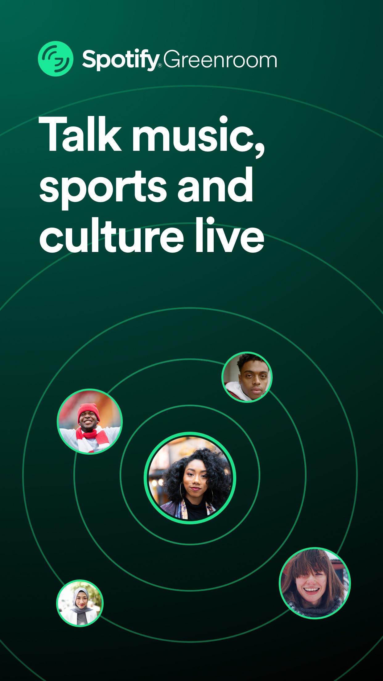 Screenshot do app Spotify Greenroom - Talk Live