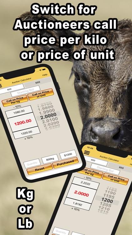 Livestock Auction Calculator