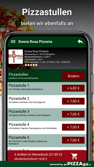 Donna Rosa Pizzeria Bergheim screenshot 6