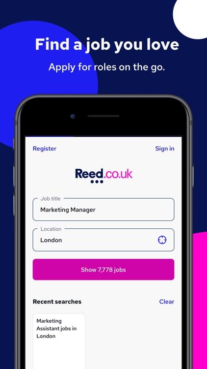 Reed.co.uk Job Search screenshot-0
