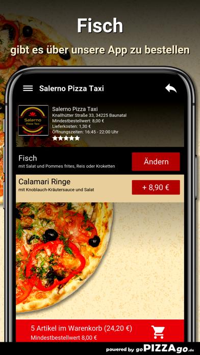 Salerno Pizza Taxi Baunatal screenshot 6