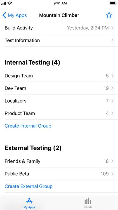 App Store Connect Screenshot
