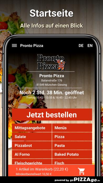 Pronto Pizza München Giesing screenshot 2