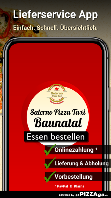 Salerno Pizza Taxi Baunatal screenshot 2