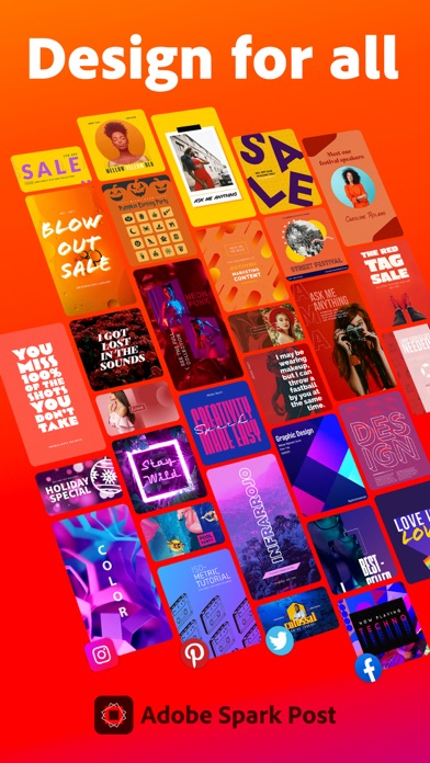 Скриншот №1 к Adobe Spark Post Design Maker
