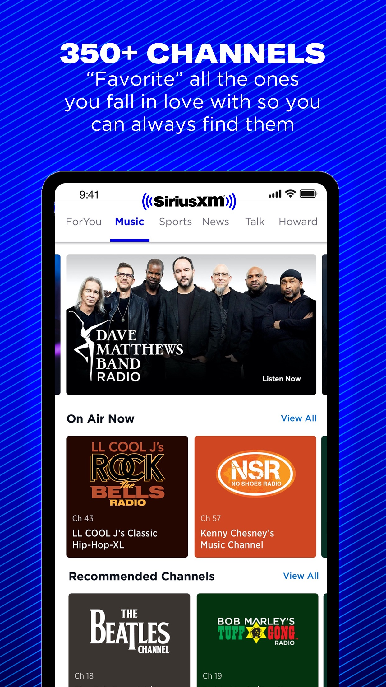 The SiriusXM App – Try It Out Screenshot