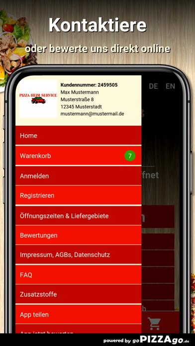 Pizza Heim Service Pforzheim screenshot 3