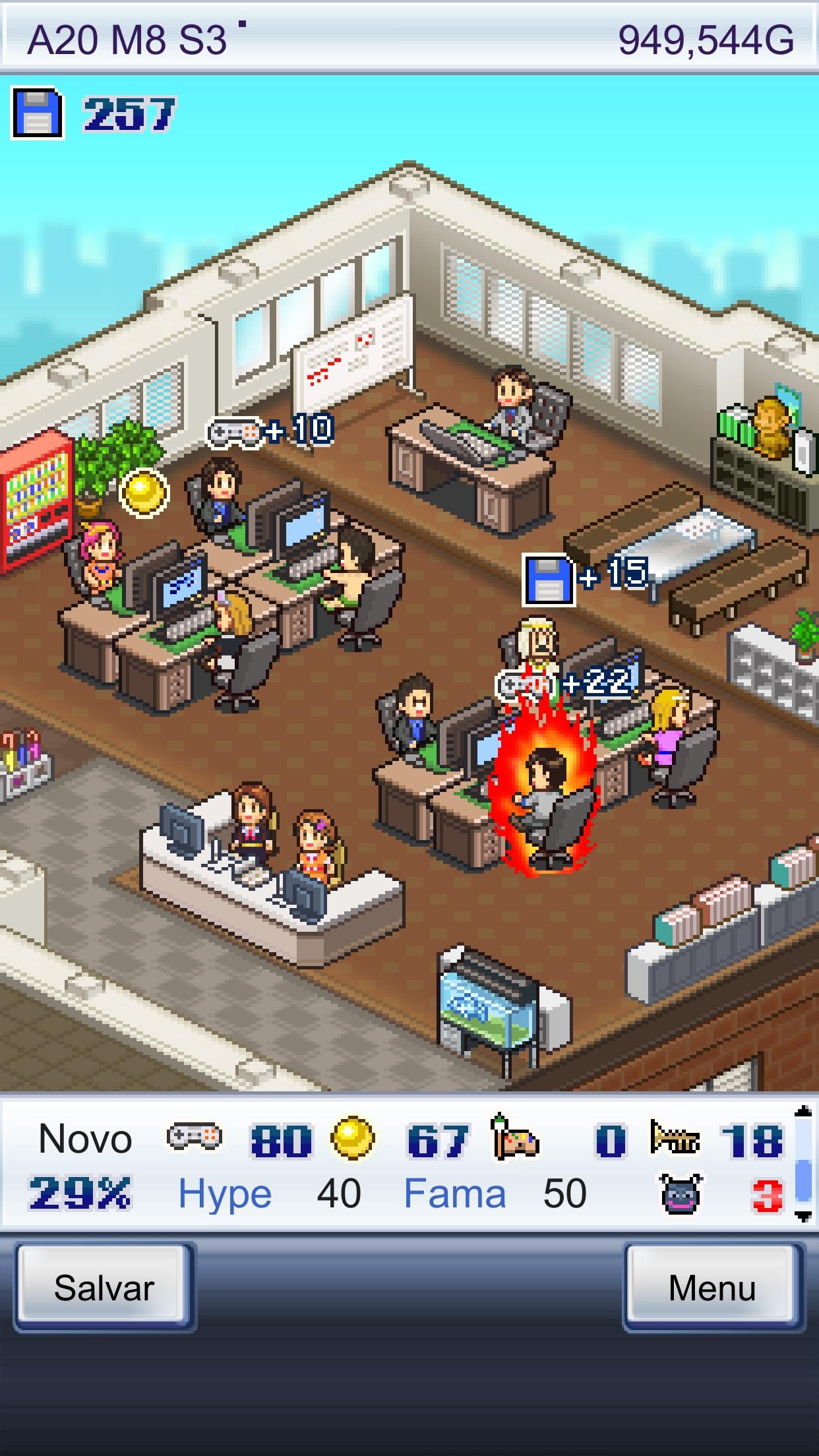 Screenshot do app Game Dev Story