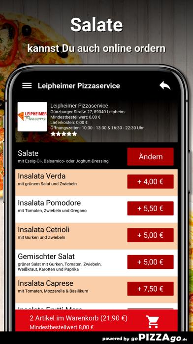 Leipheimer Pizzaservice Leiphe screenshot 5