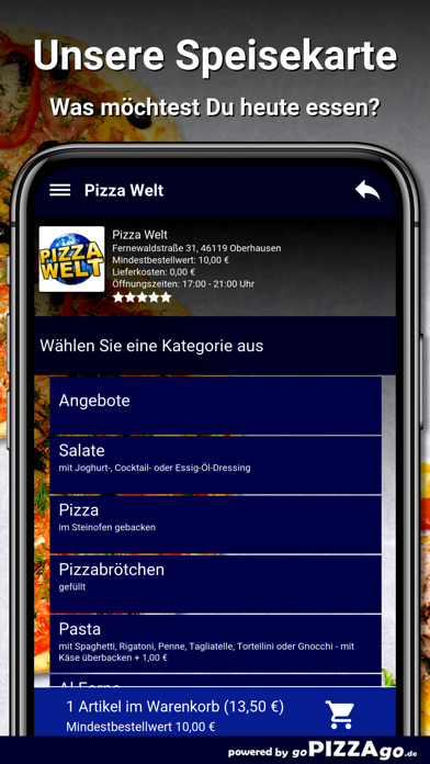 Pizza-Welt Oberhausen screenshot 4