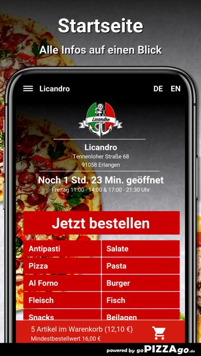 Licandro Erlangen screenshot 2