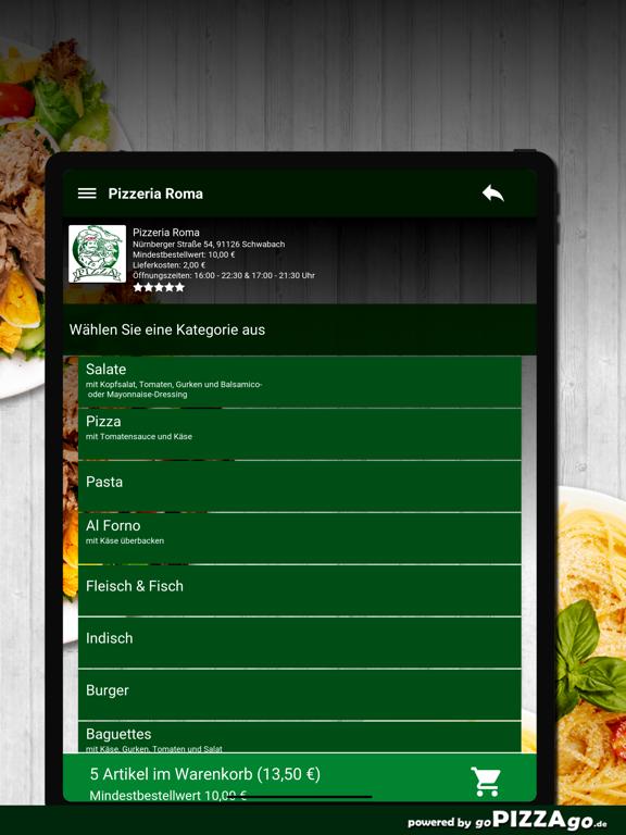 Pizzeria Roma Schwabach screenshot 8