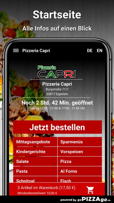 Pizzeria Capri Eppstein screenshot 2