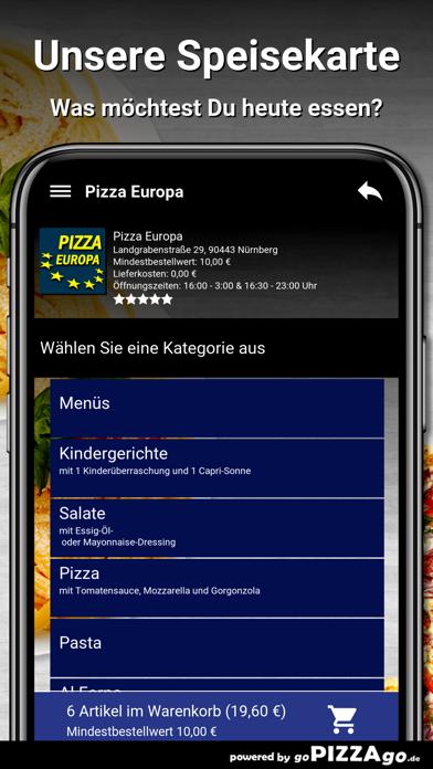 Pizza Europa Nürnberg screenshot 4