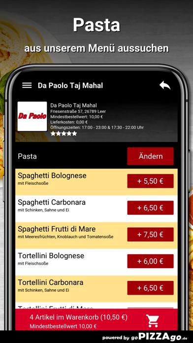 Da Paolo Taj Mahal Leer screenshot 5
