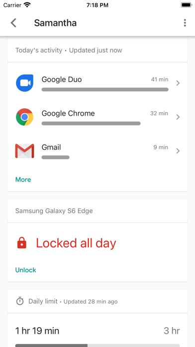 Google Family Link Screenshot