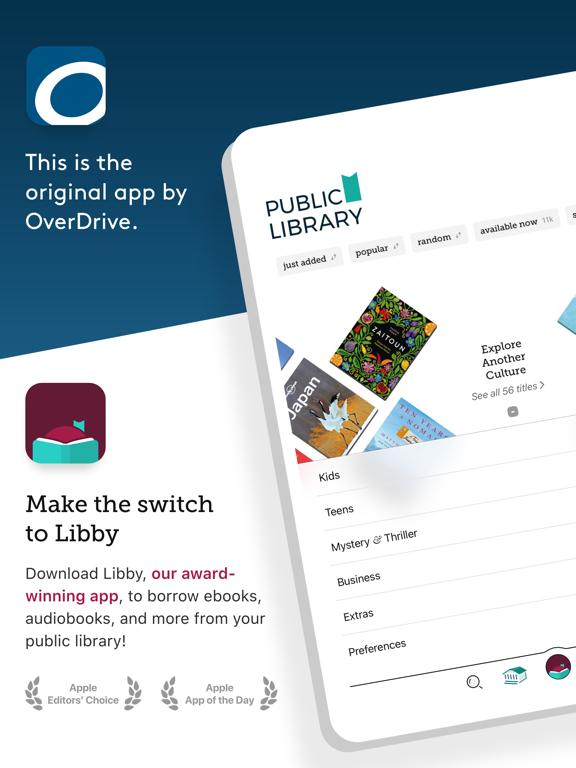 OverDrive: eBooks & audiobooksのおすすめ画像1