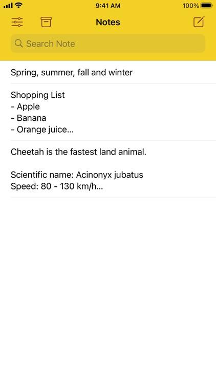 Cheetah Note