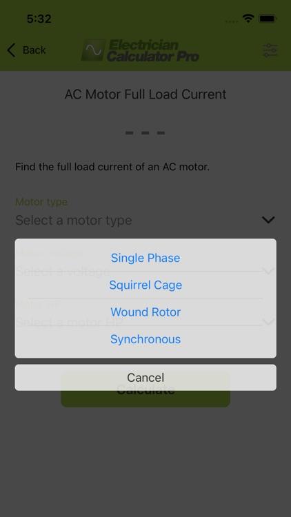 Electrician Calculator Pro screenshot-3