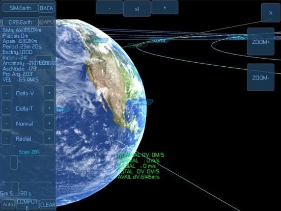 Space Simulator iPad app afbeelding 8
