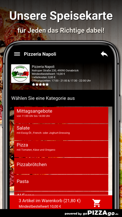 Pizzeria-Napoli Osnabrück screenshot 4