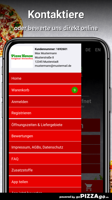 Pizza House Hannover screenshot 3