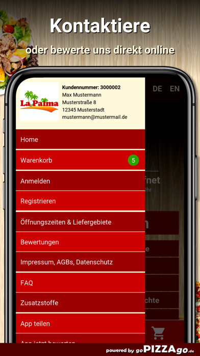 Pizzeria La Palma Duisburg screenshot 3